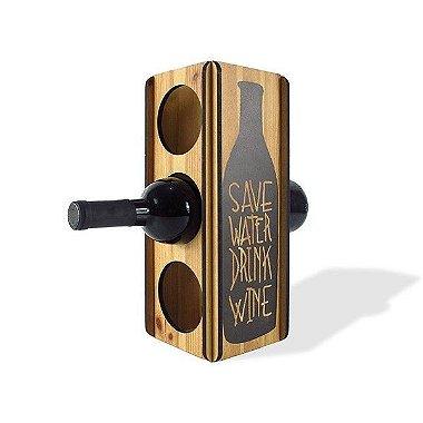 Mini adega Save Water Drink Wine