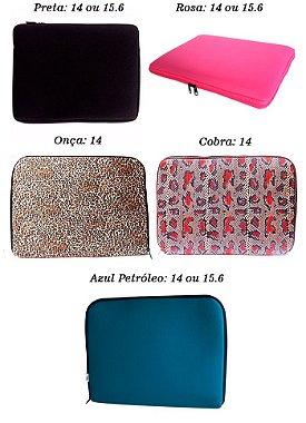 Case Capa Notebook Preta Estampada 14 A 15.6 Frete Grátis Rosa 15.6