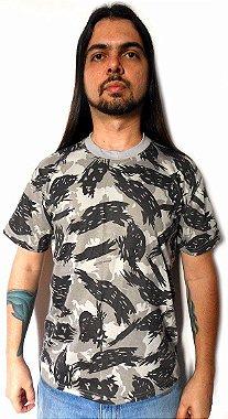 Camisa Camiseta Camuflada Cinza Ártico Exército Militar G