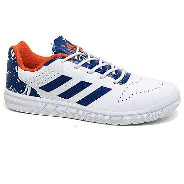 Tênis Adidas Quicksport Junior H68452 White Royal Laranja Tam 30 ao 36