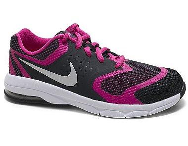 Tênis Nike Air Max Premiere RUN ( PS ) 716789 Feminino Infantil Black Pink Silver 29