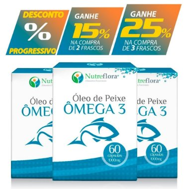Ômega 3 - fish oil - 1000mg ( 60 cápsulas ) 1 unidade