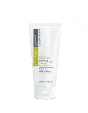DUPLICADO - For Beauty - Max Illumination Kit Manutenção Argan Oil Reconstrução Shampoo, Condicionador e Leave - in