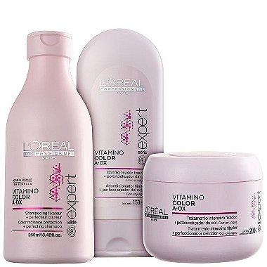 Loreal Profissional - Vitamino Color Kit Trio ( Shampoo 250ml + Condicionador 150ml + Máscara 200g )