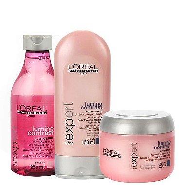 Loreal Profissional - Lumino Contrast Kit ( Shampoo 250ml + Condicionador 150ml + Máscara 200g )