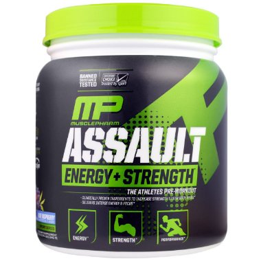 Assault Energy + strength - 30 Porções - Musclepharm strawberry Ice