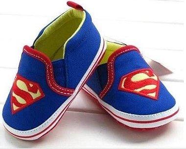 Sapatinho Bebê Super Homem - 6 à 9 meses