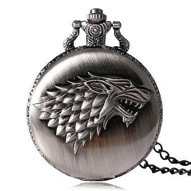 DUPLICADO - Relógio de Bolso - Harry Potter Hogwarts Bronze