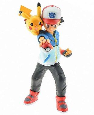 Boneco Ash Ketchum e Pikachu - Pokemon