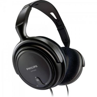 Fone de Ouvido com Alça e Conchas Ajustáveis SHP2000 / 10 Preto PHILIPS