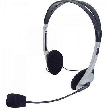 Headset Voicer Light 662040BS Preto / Prata OMEGA