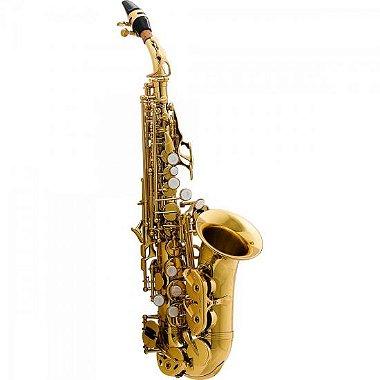 Saxofone Soprano Curvo Bb HCSSC - 310GL Laqueado HARMONICS