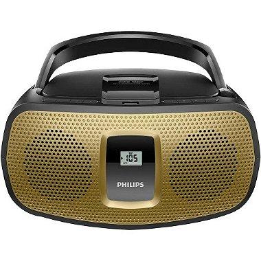 Rádio Portátil com CD Player / USB / MP3 / FM / AM AZ392X / 78 Preto e Dourado PHILIPS