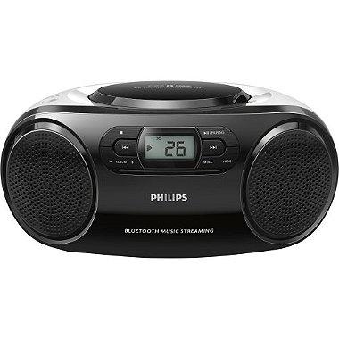 Rádio Portátil com CD Player / USB / MP3 / FM / Bluetooth AZ330TX / 78 Preto PHILIPS