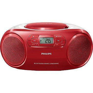 Rádio Portátil com CD Player / USB / MP3 / FM / Bluetooth AZ331TX / 78 Vermelho PHILIPS