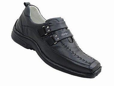 Sapato Masculino Preto ou Branco Antistress Palmilha Gel Confort Branco