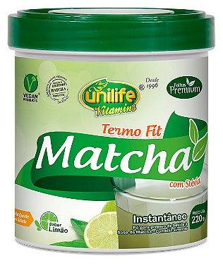 Matcha Instantâneo Termo Fit com Stevia 220g