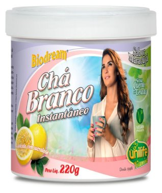 Chá Branco Instantâneo Biodream (220g) - Unilife