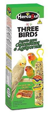 Three Birds Bastão Calopsitas E Agapornis - 60g