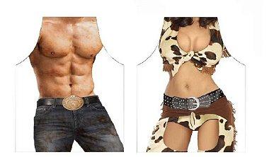 Avental cowboy e cowgirl