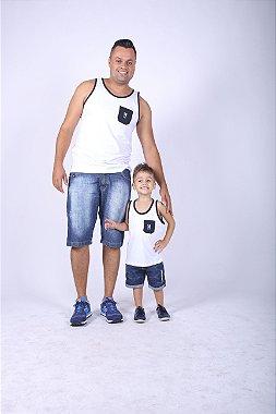 kit Regatas Tal Pai Tal Filho Branca P 8
