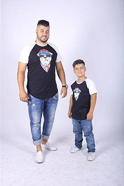 PAI E FILHO Kit 02 Camisetas com Estampa de Cachorro ( Coleção Tal Pai Tal Filho ) M 2