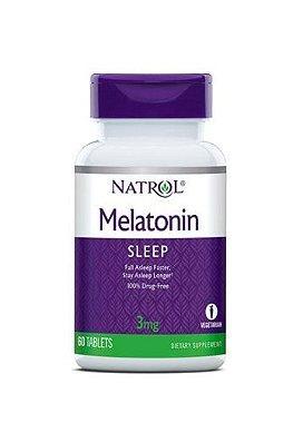 Melatonina 3 mg - Natrol -  60 Comprimidos
