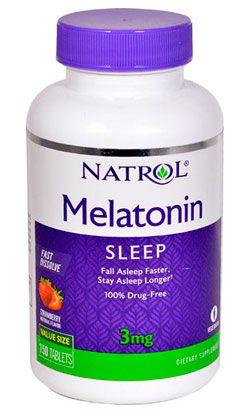 Melatonina 3mg Natrol Dissolução Rápida, 150 comprimidos, Sabor Morango