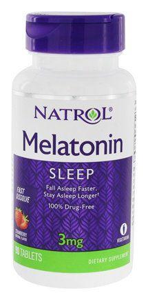 Melatonina 3mg Natrol [Sublingual] Fast Dissolve (90 comprimidos) - Sabor Morango