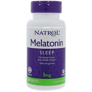 Melatonina 3mg Time Release (Liberação Lenta) - Natrol - 100 comprimidos