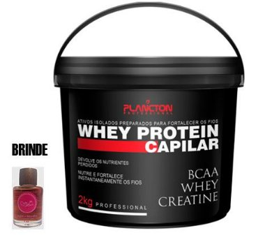 Plancton - Whey Protein Máscara Reconstrução Capilar 2kg + BRINDE Óleo 7ml
