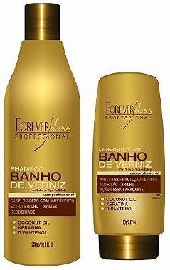 Forever Liss - Banho de Verniz Kit Extra Brilho Shampoo 500ml e Leave - in 150ml