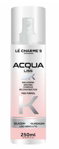 Lé Charme ´ s - Acqua Liss 3k Fluido 250ml Selagem, Blindagem e Liso Absoluto