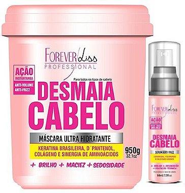 Forever Liss - Desmaia Cabelo Máscara Hidratante Anti Volume e Anti Frizz 950g + Sérum 60ml
