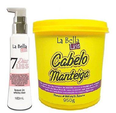 La bella liss - Kit Cabelo Manteiga 950g + Leave - in 7 Dias Liss 160ml