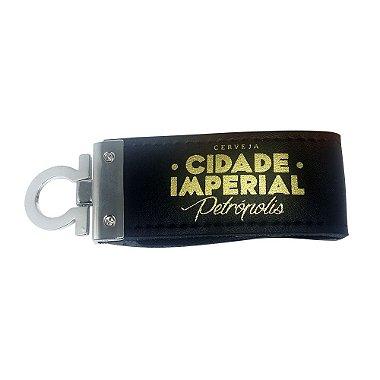 Pen Drive 4GB e Chaveiro de Couro Cerveja Cidade Imperial