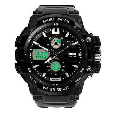 Relógio Infantil Skmei Anadigi 0990L PT