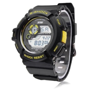 Relógio Masculino Skmei Digital 0939 Preto e Amarelo