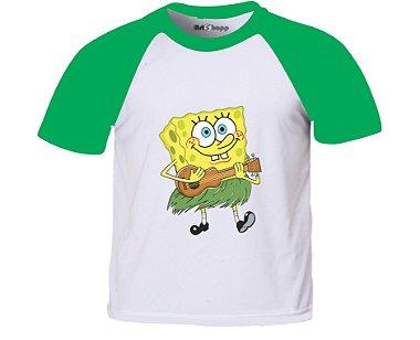 Camiseta infantil Bob Esponja Amarelo