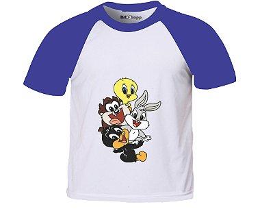 Camiseta infantil Baby Loones Tunes Kid Preto