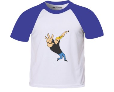Camiseta infantil Johnny Bravo Green