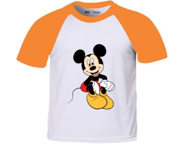 Camiseta infantil Mickey Green
