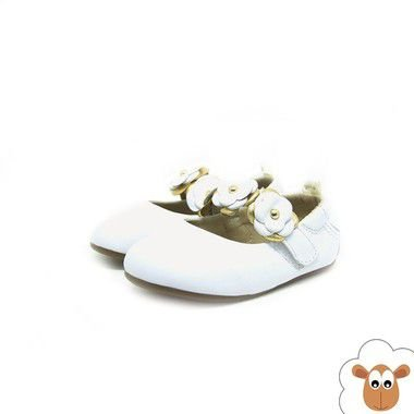 Sapatilha - Gambo - Branca com flores