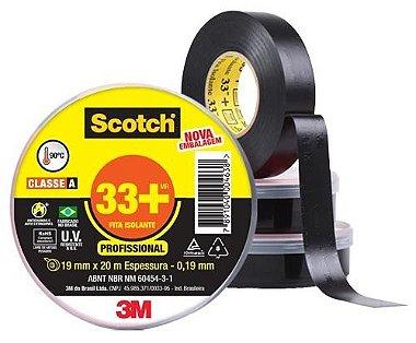 Fita Isolante Scotch 33+ 3M - 19mm