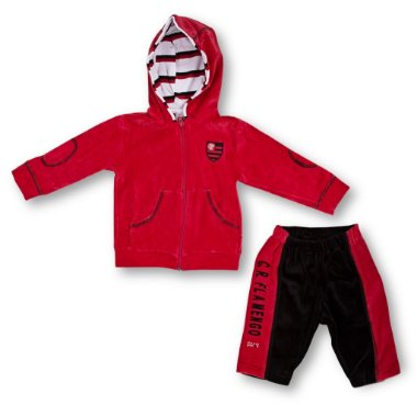 Agasalho Bebê Flamengo Plush Revedor