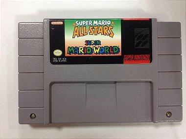 Mario All Stars + Mario World Super NIntendo Original
