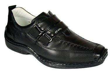 Sapato Masculino Preto ou Branco Antistress Palmilha Gel Confort Preto