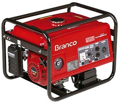 Gerador de Energia a Gasolina de 2200 Watts 2,2 KVA Motor 6,5 CV B4T2500L - Branco