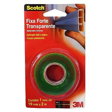 Fita Dupla Face 19x02 Transp Fixa Forte 3m ( PÇ )