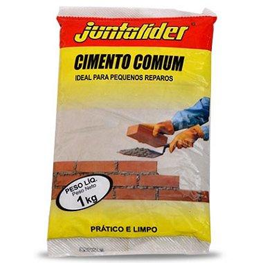 CIMENTO CINZA COMUM 1KG J. LIDER ( PCT )